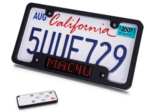 Scrolling License Plate