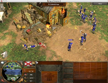 Using flaming arrows and torches in Age of Empires III.