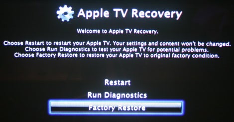 Apple TV Recovery screen
