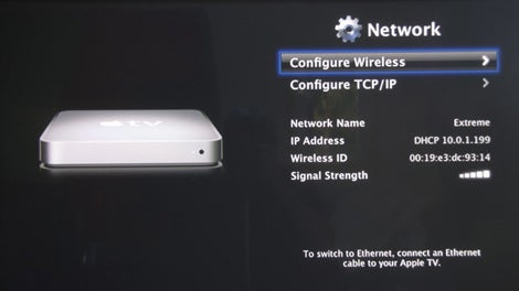 apple tv signal strength