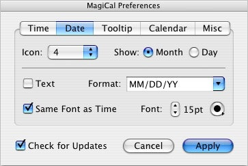 MagiCal date preferences
