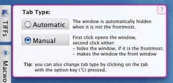 Sticky Windows tab types
