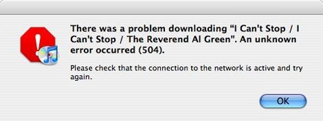 iTunes Plus error message