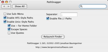 PathSnagger preference pane