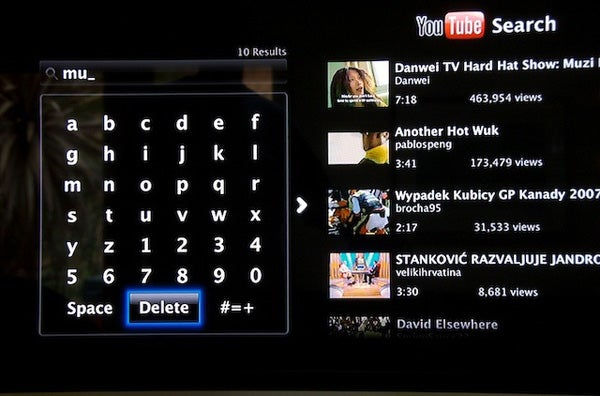 how to search on apple tv youtube