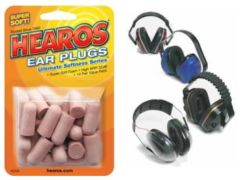 Ear plugs and muffs