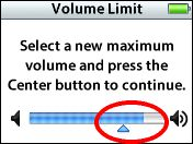 iPod Volume Limit feature
