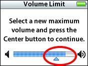 iPod Volume Limit feature