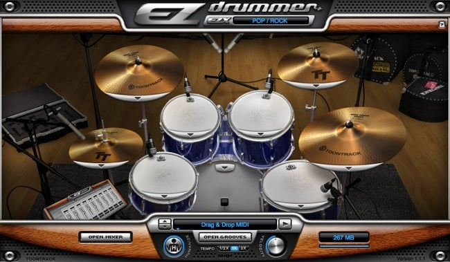 EZdrummer interface
