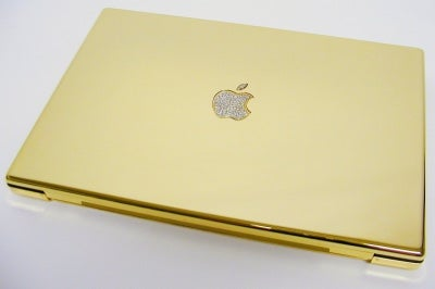 MacBook Pro with diamonds