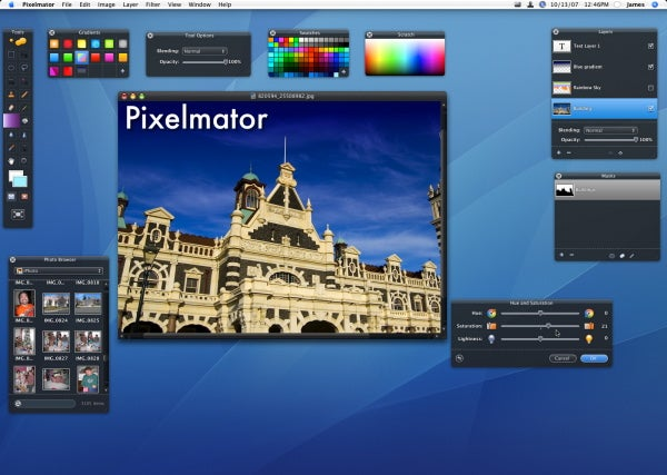 Pixelmator in use
