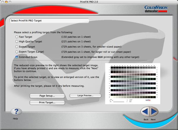 PrintFixPro gray target