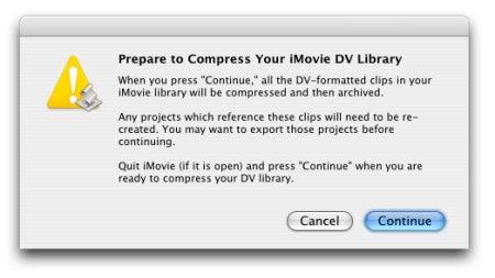 iMovie '08 Library Compressor