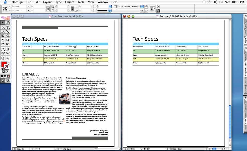 First look: InDesign CS2 | Macworld
