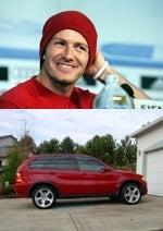 David Beckham and the BMW X5
