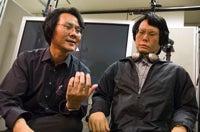 Hiroshi Ishiguro and Geminoid HI-1