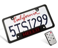 Scrolling License Plate Frame