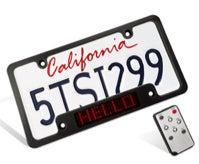 Scrolling License Plate Frame