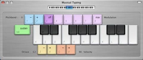 GarageBand 2 Musical Typing