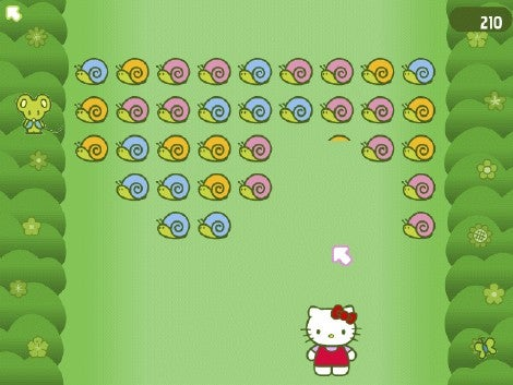 Hello Kitty: Bubblegum Girlfriends Rainbow Garden mini-game