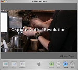 iDVD 5 16:9 widescreen aspect ratio