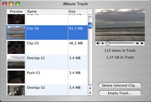 iMovie HD Trash
