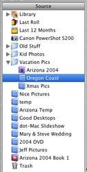 iPhoto 5 Source column