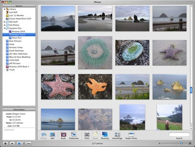 iPhoto 5 main interface