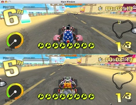 2 players racing games