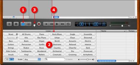 GarageBand 2 Loop Browser