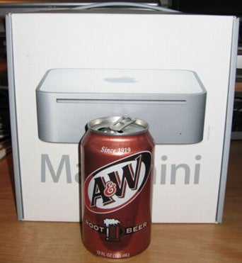 Mac mini versus root beer can
