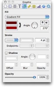 Pages Inspector Graphic panel