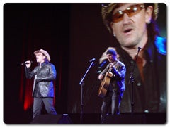 U2 at iPod event