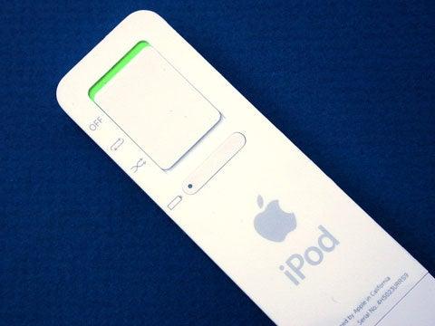 iPod shuffle bac view
