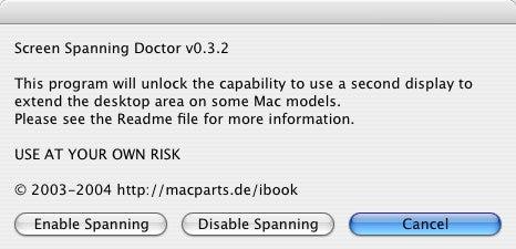Screenshot of Screen Spanning Doctor
