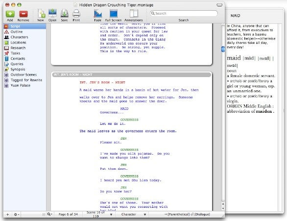 Montage Screenwriting Software Reworks Styles Macworld