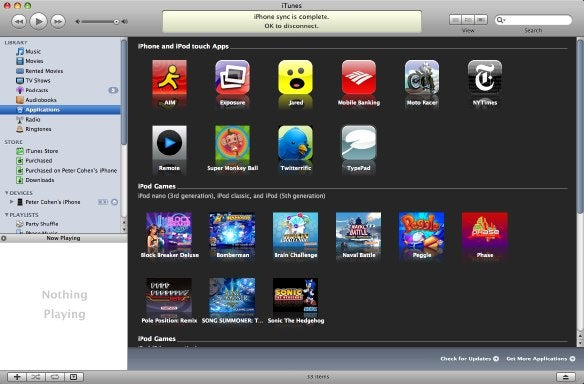 iPhones Applications in iTunes