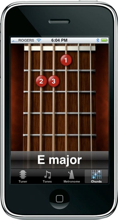 tune your guitar view chords on the iphone macworld. Black Bedroom Furniture Sets. Home Design Ideas