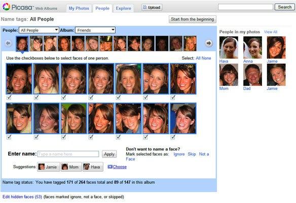 Picasa Face Recognition