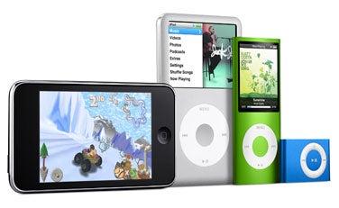 Modelos de iPod a lo largo del tiempo
