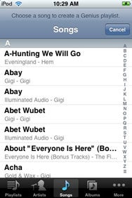 how to make a playlist on ipod touch