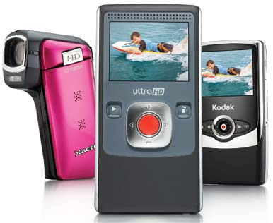 Pocket HD camcorders
