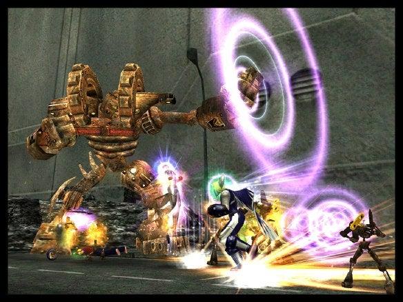 City of Heroes battle