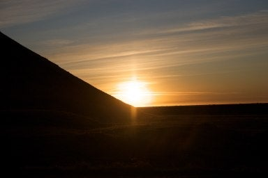 Sunset in Iceland