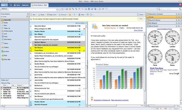 Expo Lotus Notes Gets Interface Makeover Symphony Beta
