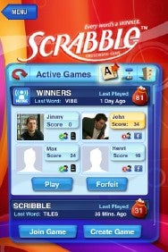 Scrabble for iPhone