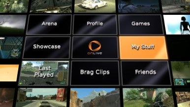 OnLive Welcome Screen