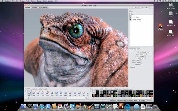 Mudbox 2009 digital sculpting and painting software released for Mac