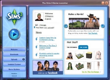 The Sims 3 Game Launcher