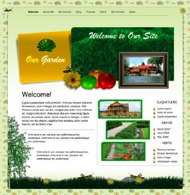 iWeb Themes 4.0 - Garden theme